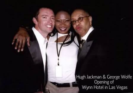 Hugh Jackman and George Wolfe